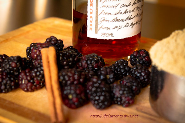 maple brown sugar bourbon blackerries