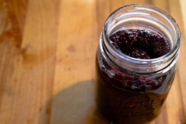 Maple - Brown Sugar - Bourbon Blackberries: blackberries in maple bourbon syrup