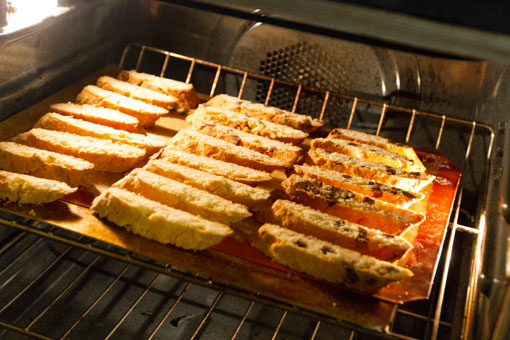 Almond Biscotti Once they are all cut, pop them back in the oven