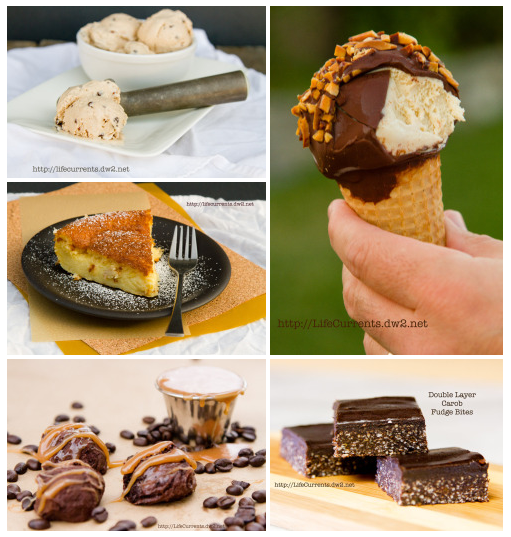 Desserts: a collection of yummy and some are fairly healthy desserts! https://lifecurrentsblog.com