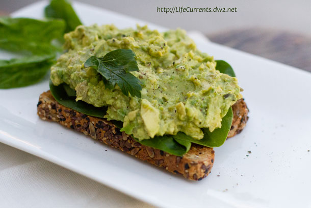 Open Faced Avocado Miso Toast