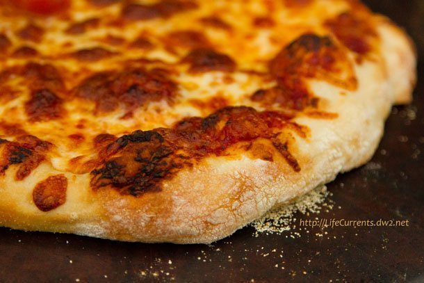 Homemade Thin Crust Pizza using Easy Homemade Pizza Sauce