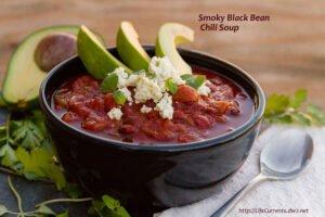 Smoky Black Bean Chili Soup