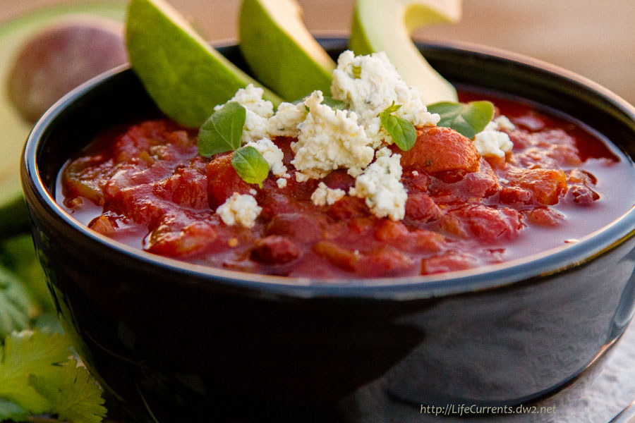 Smoky Black Bean Chili Soup https://lifecurrentsblog.com #slowcooker #crockpot #vegan #chili