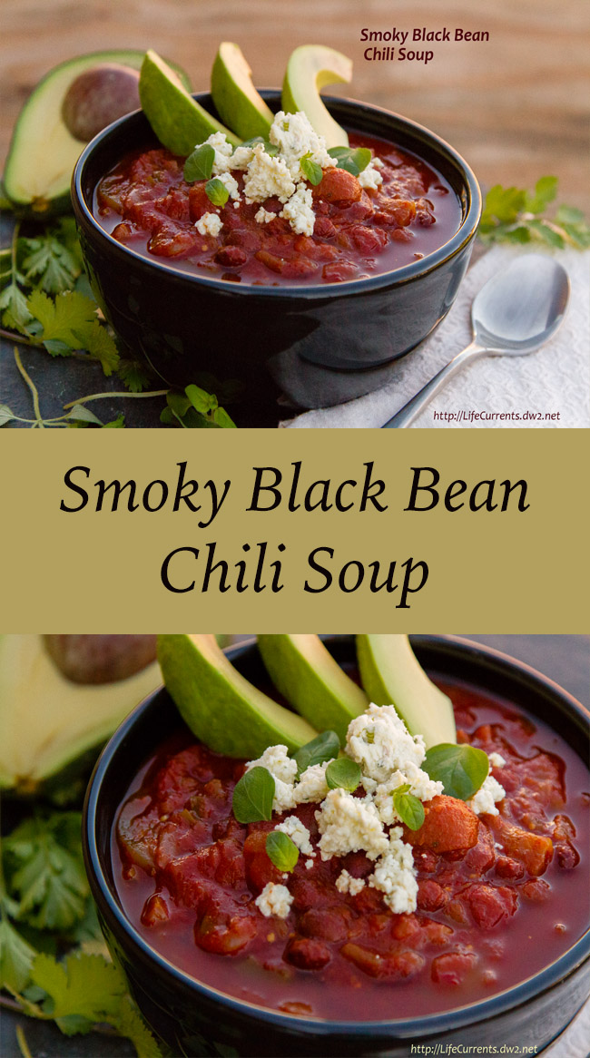 Smoky chipotle chilies, smoked paprika, and toasted cumin seeds combine with earthy black beans and tangy tomatillos in this soupy chili to make a tasty and complex (but not too hot) dinner. And, it's super easy on the cook because it's made in the crock pot.