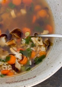 Brwon Rice Vegetable Soup