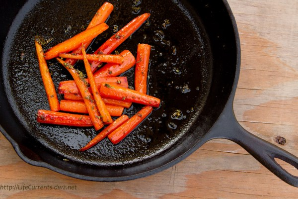 Maple-Thyme Glazed Carrots Life Currents https://lifecurrentsblog.com