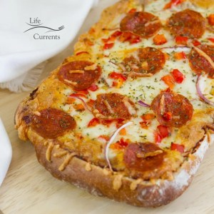 French Bread Pizza. It's quick and easy, and gives you everything you want from pizza.