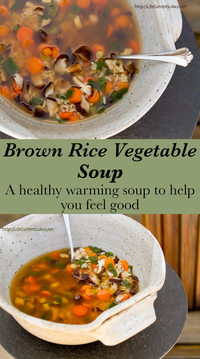 Brown Rice Vegetable Soup Recipe