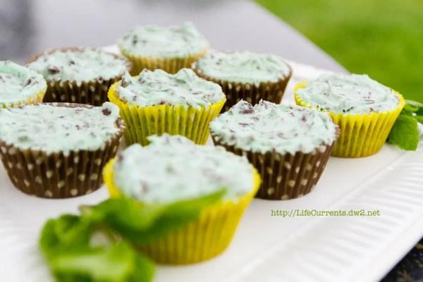 Mint 'n' chip Cupcakes