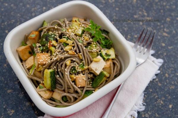 Soba Noodle Salad makes a great lunch! | Life Currents soba noodles grilled vegetables