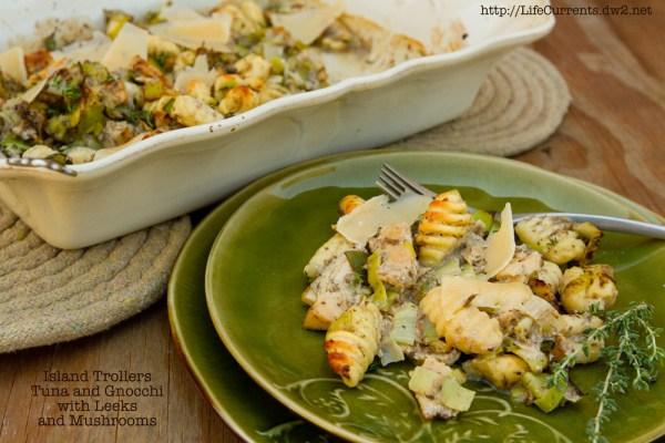 Gnocchi with Mushrooms and Island Trollers Tuna | Life Currents  https://lifecurrentsblog.com gnocchi mushrooms recipe albacore tuna