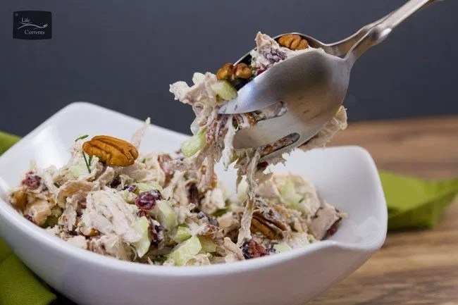 Cranberry Pecan Chicken Salad Recipe an easy and delicious addition to lunch or any potluck
