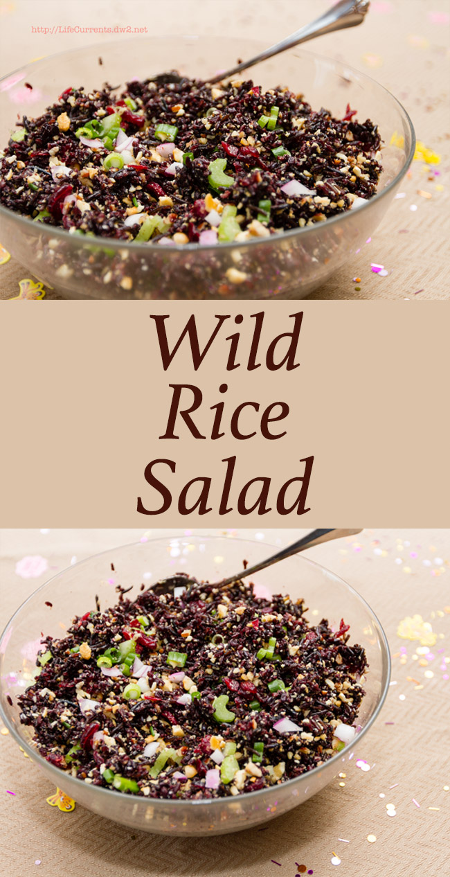 This Wild Rice Salad is easy to make, and delicious. Filled with different textures and colors, if you're looking for something a little different and a little fun to serve at your next party, this is it!