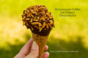 Homemade Coffee Ice Cream Drumsticks | Life Currents https://lifecurrentsblog.com