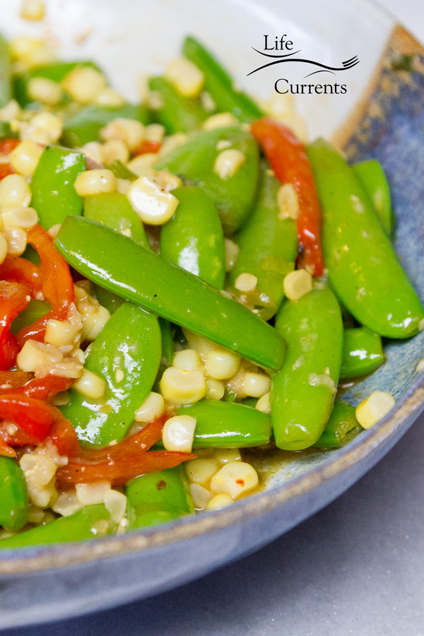 Fresh Snap Pea and Corn Sauté