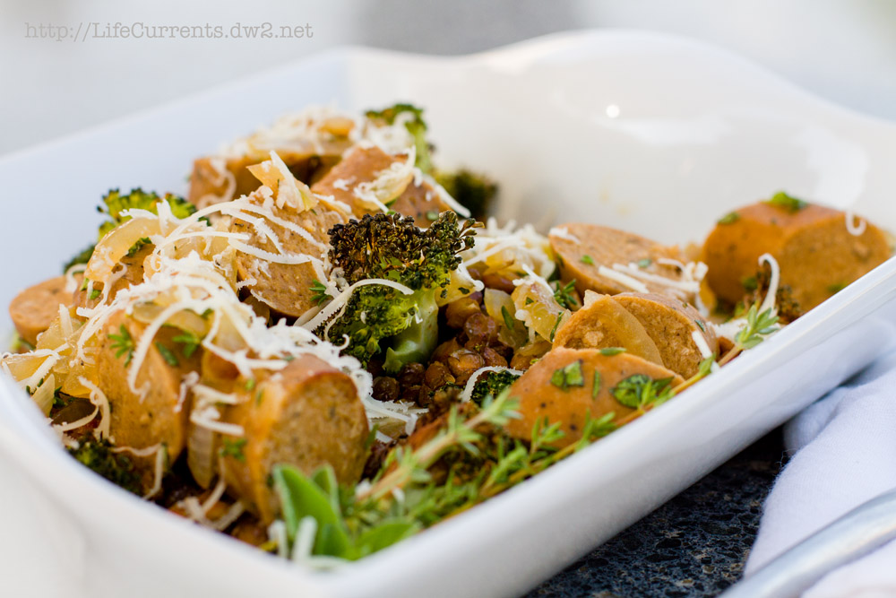 Sausage, Broccoli, and Roasted Lentils | Life Currents