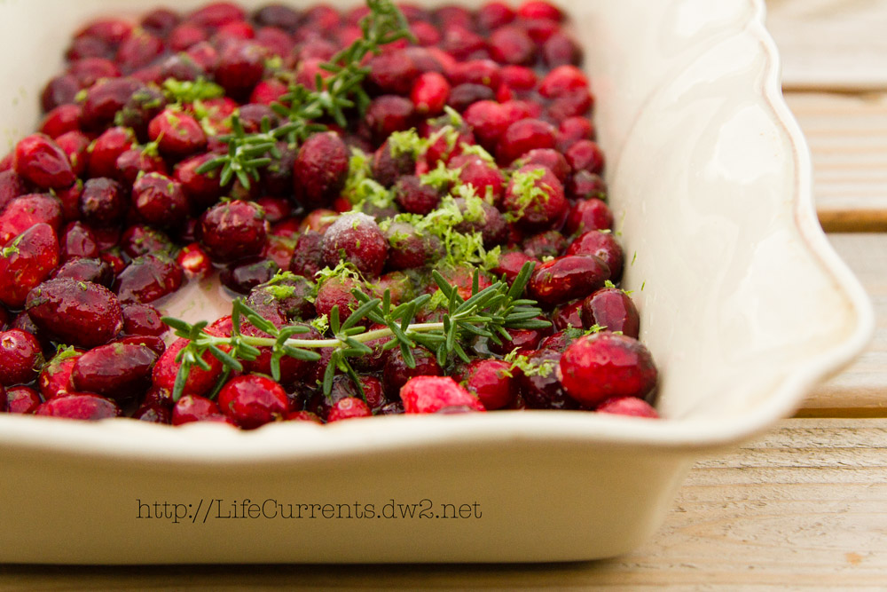 cranberries in a pan