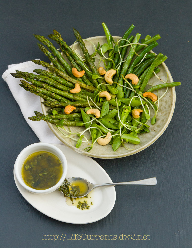 Spring Salad with White Balsamic Basil Vinaigrette | Life Currents