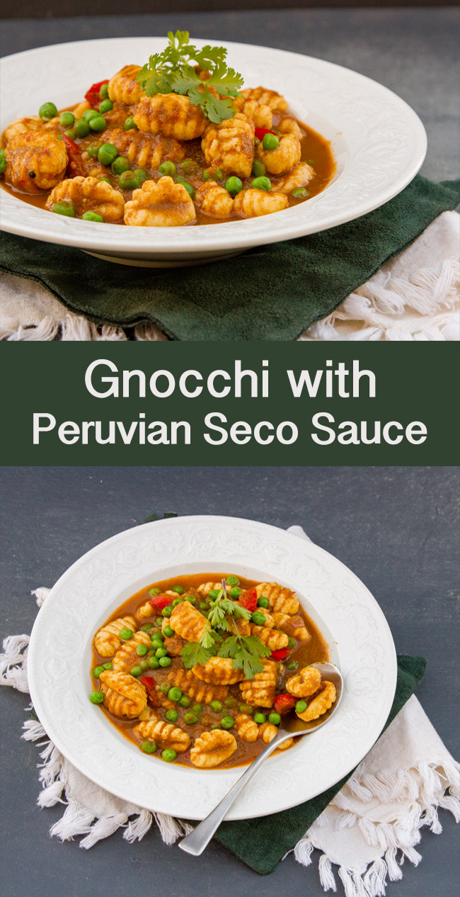 Vegetarian gnocchi with peruvian seco sauce life currents vegetarian gnocchi with peruvian seco sauce vegetarian peruvian dinner gnocchi forumfinder Image collections