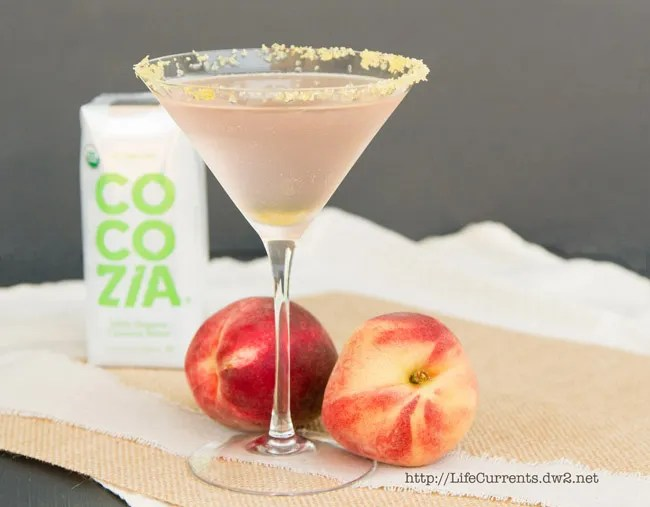 Coconut Peach Frost Cocktail | Life Currents #beverage #drink #cocktail