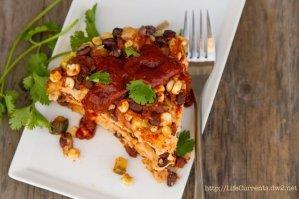 Stacked Veggie & Smoky Black Bean Enchiladas vegan, vegetarian, gluten-free, dairy free https://lifecurrentsblog.com