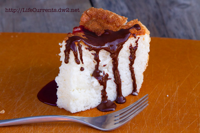 Mother's Day Desserts - Classic Angel Food Cake from scratch Classic Angel Food Cake from scratch with Chocolate Espresso Sauce https://lifecurrentsblog.com