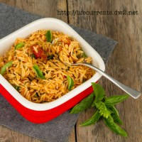 Orzo with Balsamic Tomatoes and Basil