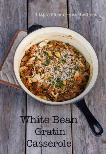 White Bean Gratin Casserole | Life Currents https://lifecurrentsblog.com