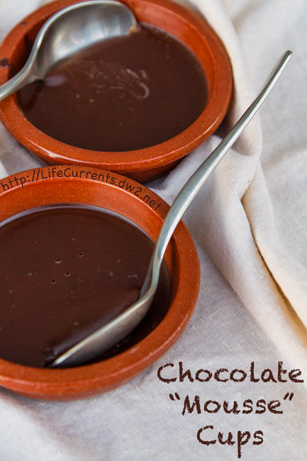 Chocolate Mousse Cups healthy coconut oil vegan paleo https://lifecurrentsblog.com