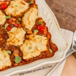 Southwestern Pot Pie with Buttermilk Biscuit Crust vegetarian dinner chili http://lifecurrentsblog.com