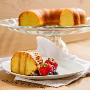 Almond Cake with Coconut Butter Drizzle