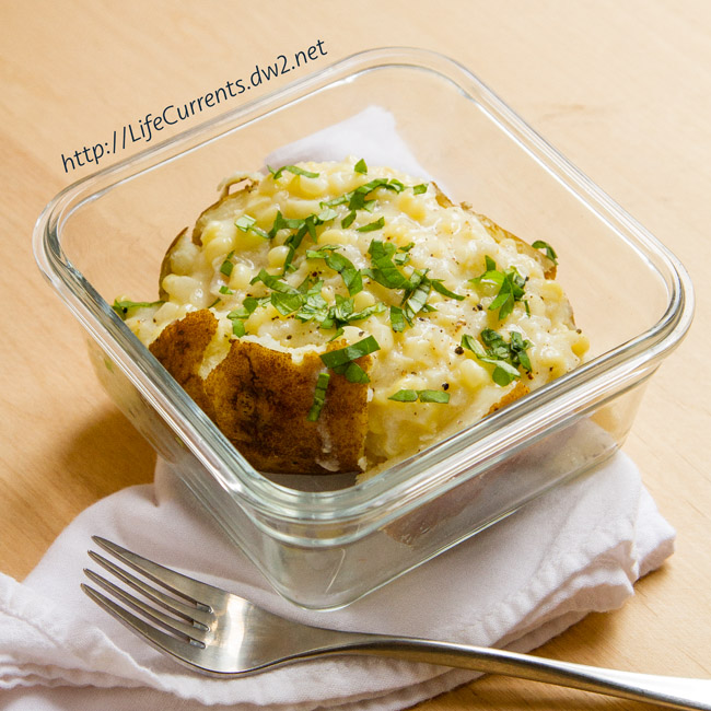 Creamed Corn Stuffed Baked Potatoes by Life Currents