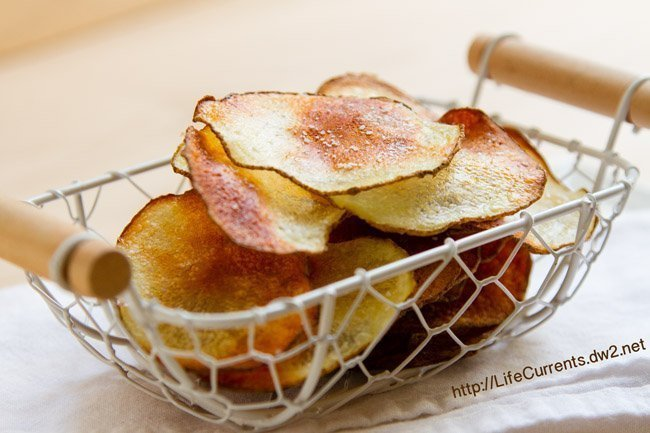 Homemade Baked Potato Chips by Life Currents