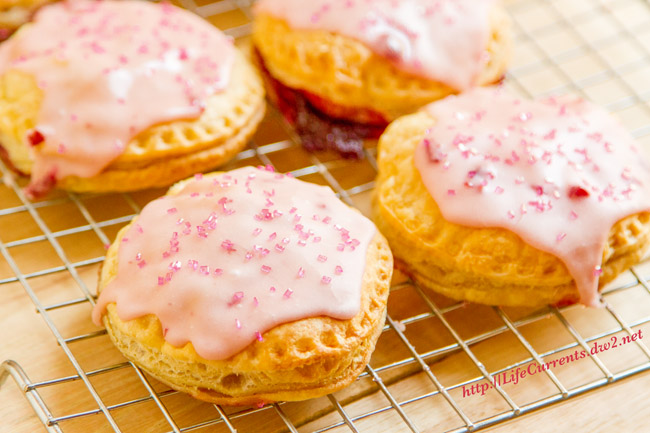 Pink Pop Tarts are a fun Tailgating breakfast option, and easy to make with just 2 ingredients (plus the icing).