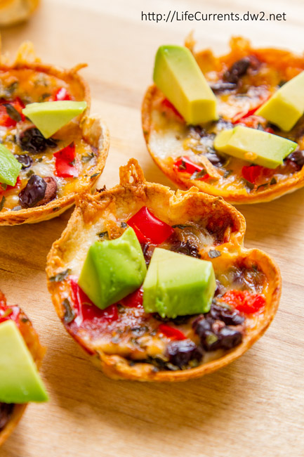 Mini Taco Cups are an easy and delicious snack for any football party or great for an after school snack!