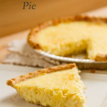 Coconut Custard Pie -- comforting, homey, simple to make, and delicious. It'll remind you of being a kid again! by Life Currents http://lifecurrentsblog.com