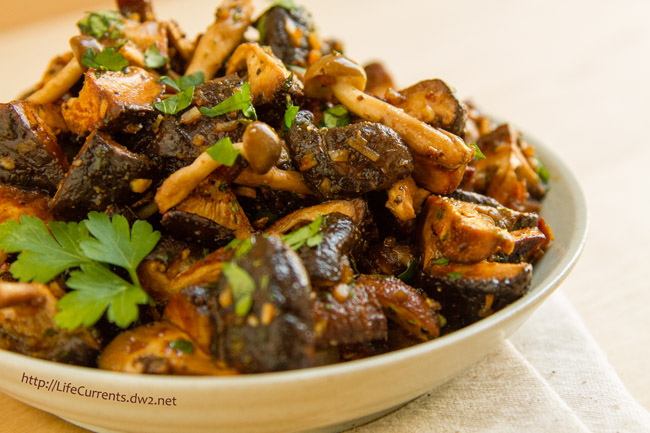 Marinated and Roasted Mushrooms by Life Currents