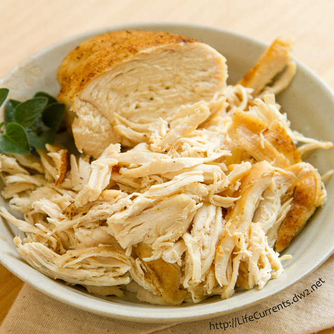 Brined and Roasted Chicken from Life Currents is a simple and delicious way to cook chicken. Shred it for tacos or stews. Chop it for little ones. Add it to a quesadilla or a sandwich.