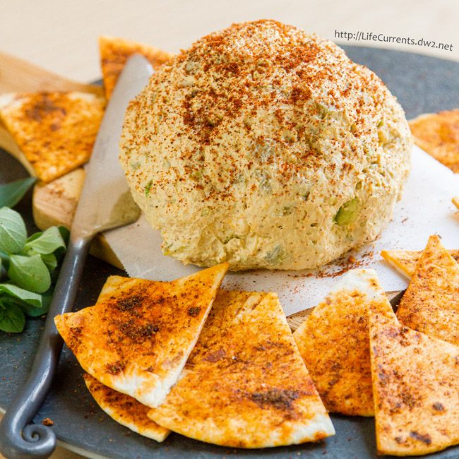 French Onion Tart featured recipe Mexican Cheese Ball with Spicy Tortilla Chips from Life Currents is a great easy to make appetizer that would be perfect for your next party or get-together!