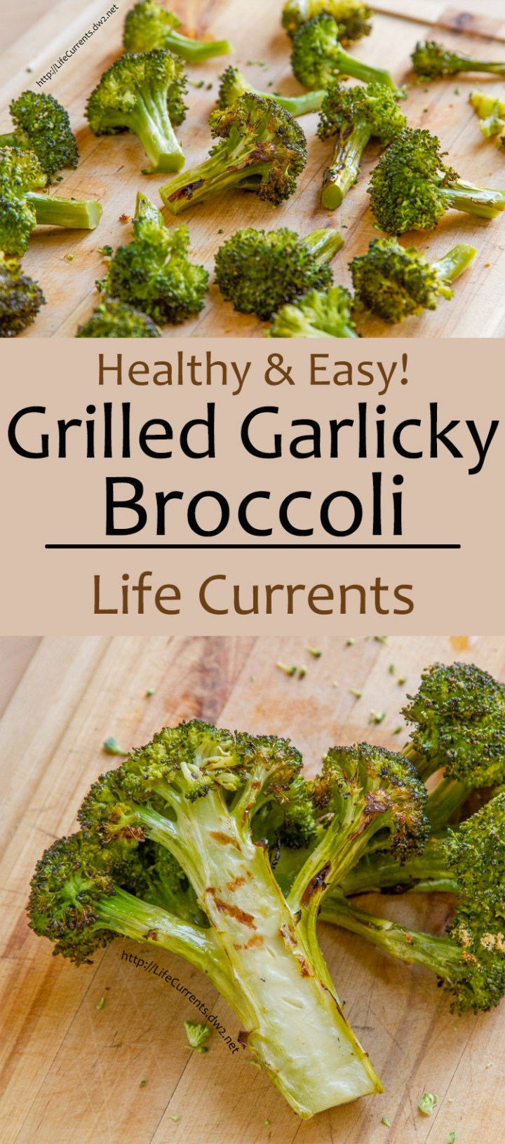 Grilled Garlicky Broccoli -- We love to grill the whole meal outside. All you need for a fabulous dinner is a nice steak, fish, or tofu steak, this Grilled Garlicky Broccoli, and some baked potatoes and you've got a family friendly super easy dinner!