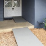 finished DIY ramps in place on our porch