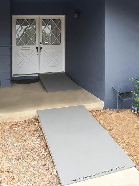 finished DIY ramps in place