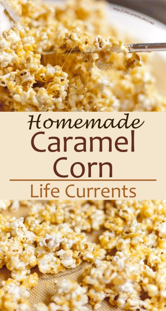 Homemade Caramel Corn is light and crunchy and delicious!