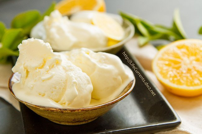 This Lemon Ice Cream is one of my favorites! Tangy, tart lemon, offsetting sweet cream. Not too sweet. Oh, this one is just so good!