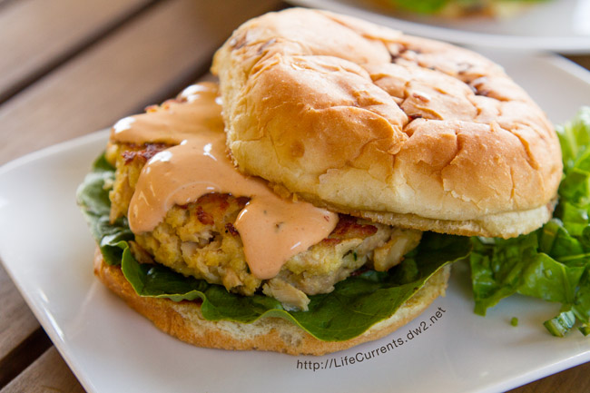 Vegetarian Black Bean Burgers featured recipe for Island Trollers Tuna Burgers with Chipotle Mayo are perfect for summertime eating fun! Yummy, easy to make up, healthy, and fun!