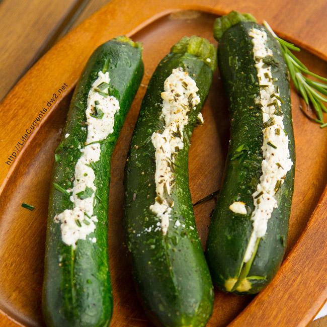 Grilled Stuffed Zucchini - Stuffed Zucchini grilled to veggie perfection!