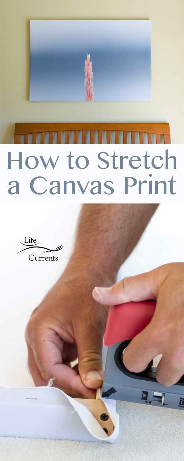 How to stretch a canvas print