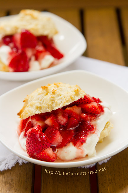 Mom's Strawberry Shortcake is perfect summer food!