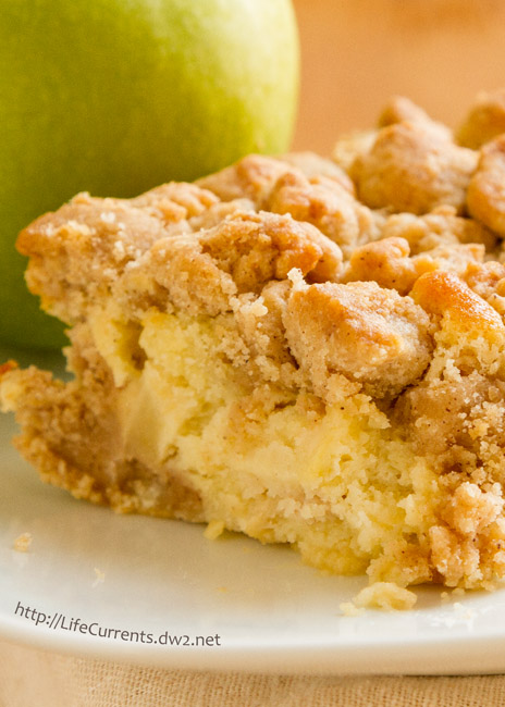 Apple Pie Ice Cream featured recipe for Apple Crumb Cake - it's like autumn in a cake! Perfect for breakfast or a snack